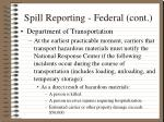 spill reporting federal cont6
