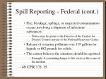 spill reporting federal cont8
