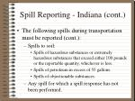 spill reporting indiana cont17