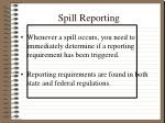 spill reporting
