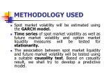methodology used