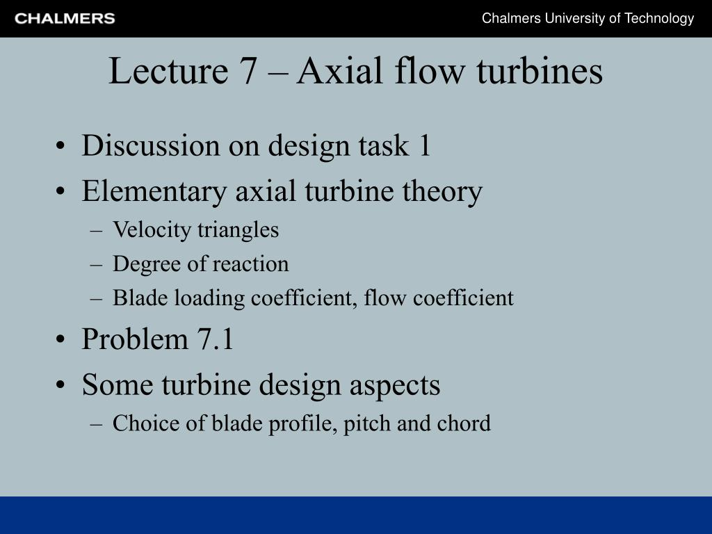 lecture 7 axial flow turbines l.