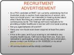 recruitment advertisement