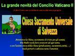 la grande novit del concilio vaticano ii