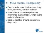 1 move towards transparency