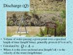 discharge q