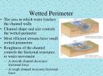 wetted perimeter