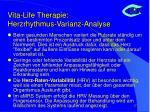 vita life therapie herzrhythmus varianz analyse