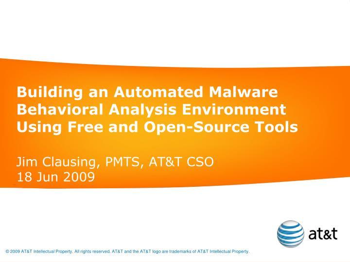 building an automated malware behavioral analysis environment using free and open source tools n.