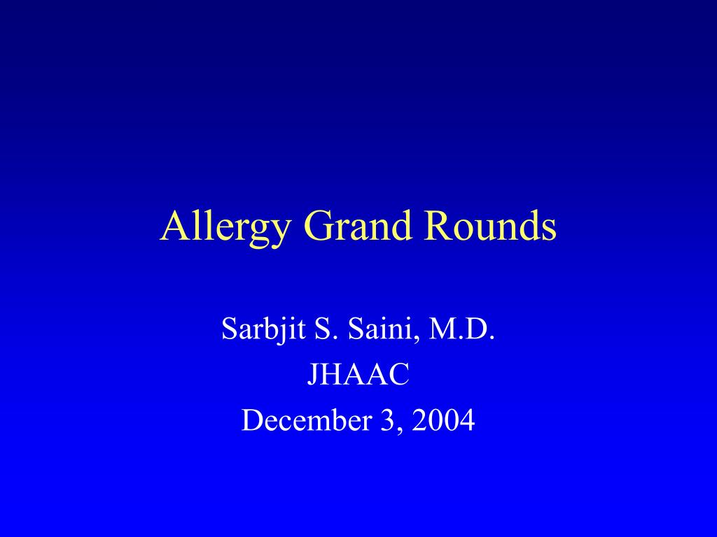 allergy grand rounds l.