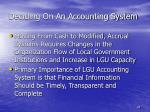 deciding on an accounting system