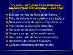 bolivia medicina transfusional diagnostico situacional a o 2000