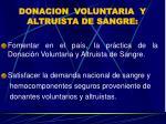 donacion voluntaria y altruista de sangre