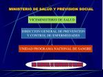ministerio de salud y prevision social
