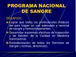 programa nacional de sangre24