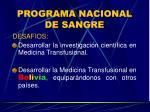programa nacional de sangre25