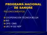 programa nacional de sangre26