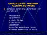 propositos del programa nacional de sangre7