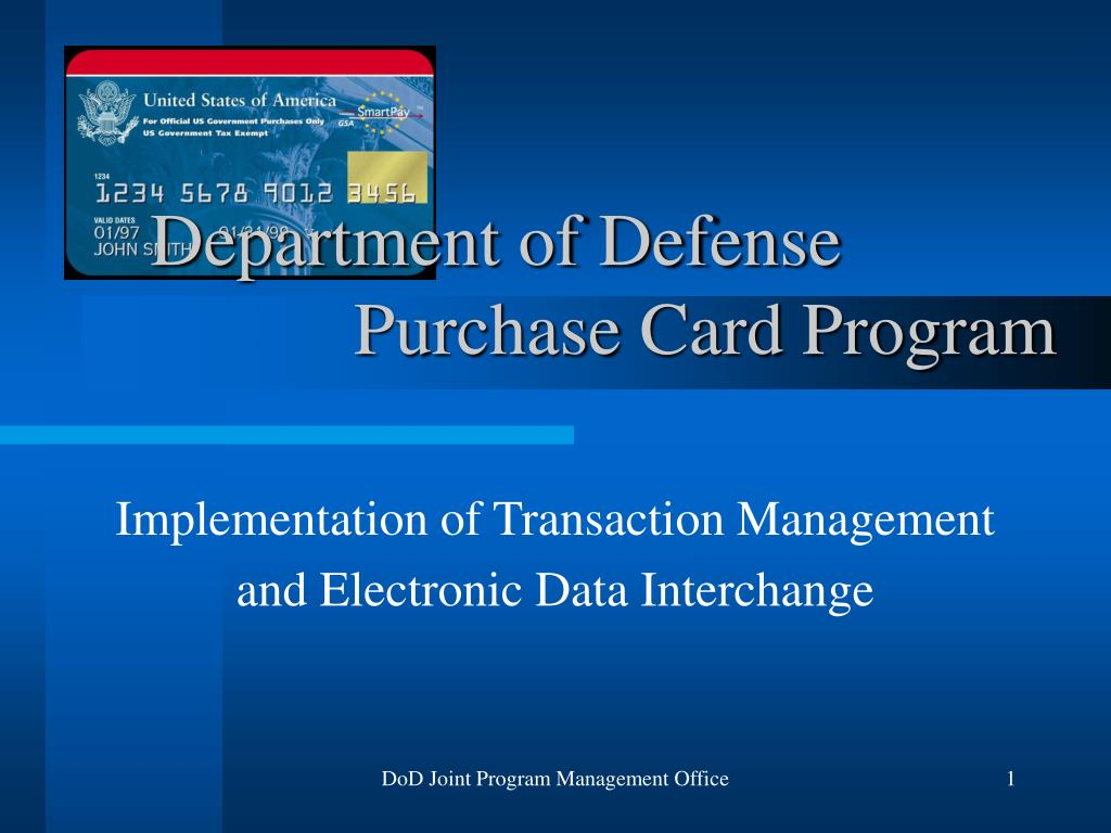 department of defense purchase card program l.