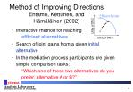 method of improving directions ehtamo kettunen and h m l inen 2002