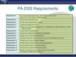 pa dss requirements
