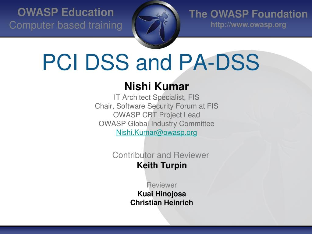 pci dss and pa dss l.