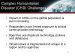 complex humanitarian disaster chd challenges