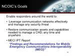 ncoic s goals