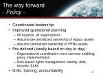 the way forward policy