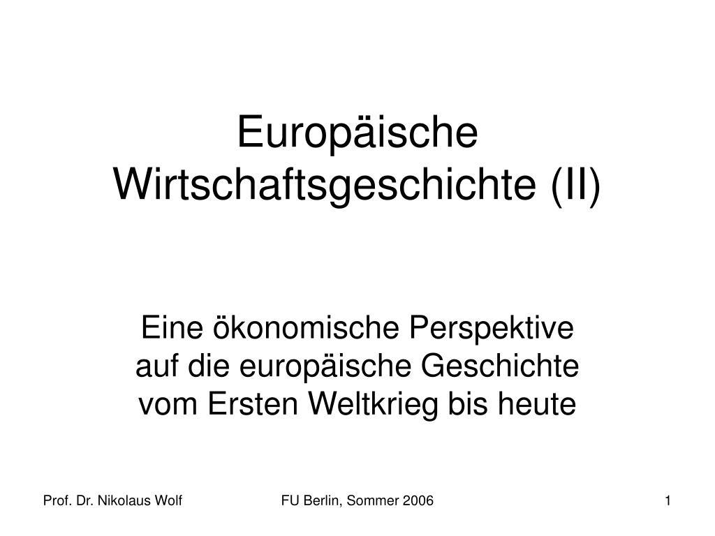 europ ische wirtschaftsgeschichte ii l.
