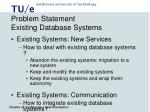 problem statement existing database systems9