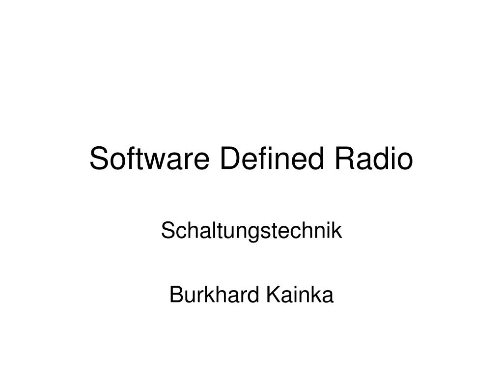 software defined radio l.
