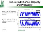 end to end channel capacity and probability