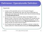 definieren operationelle definition15