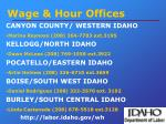 wage hour offices