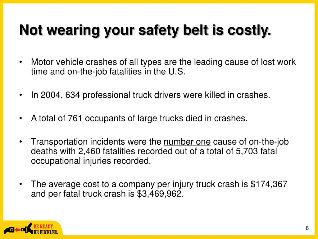 Not wearing your safety belt is costly.