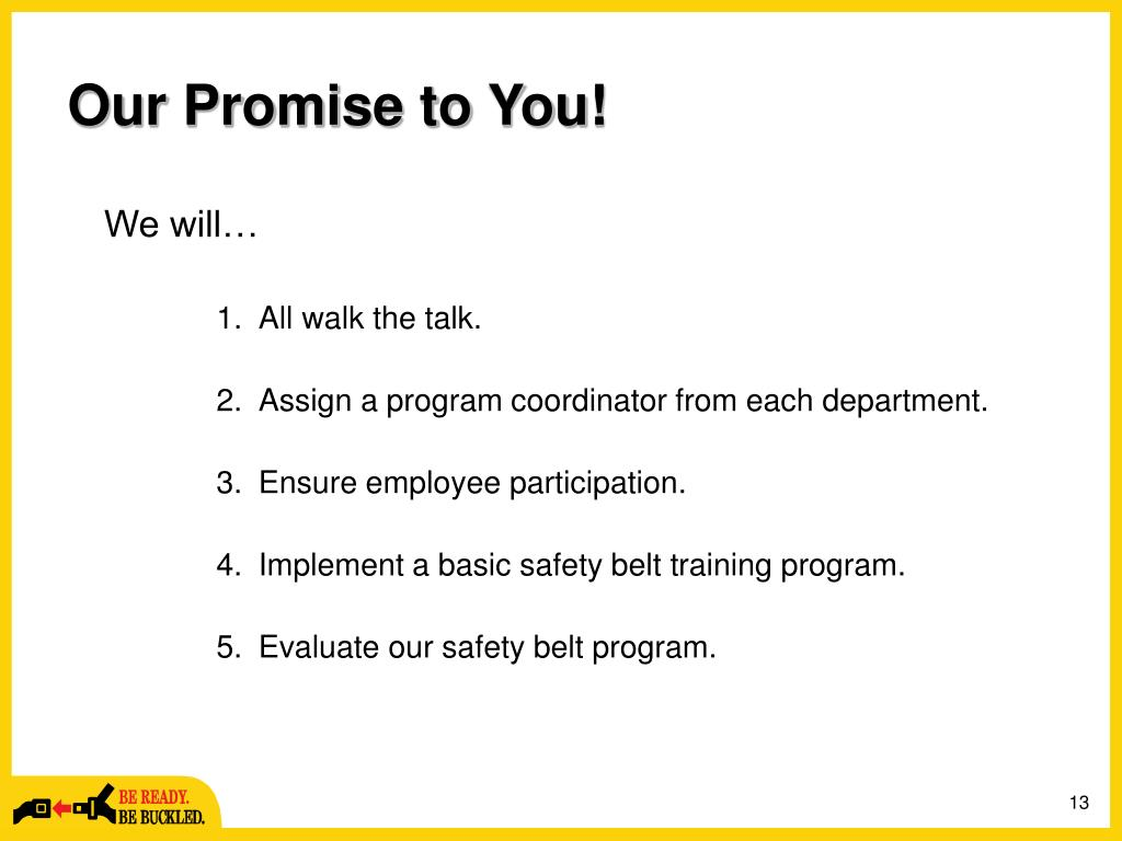 Our Promise to You!