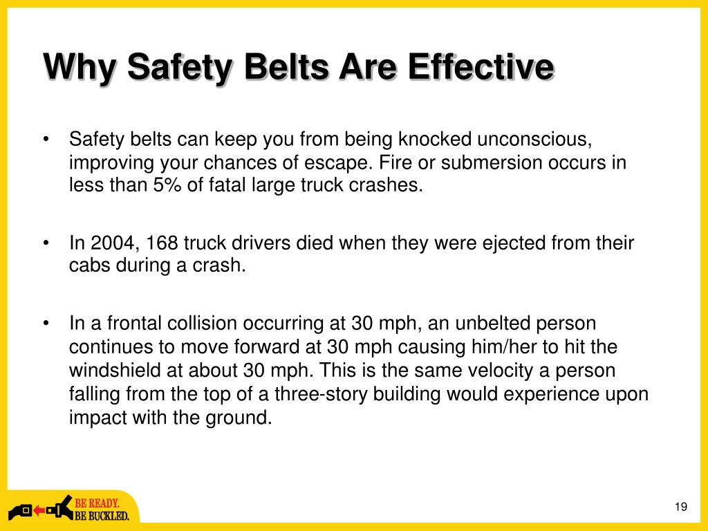 Why Safety Belts Are Effective