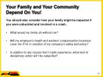 your family and your community depend on you25
