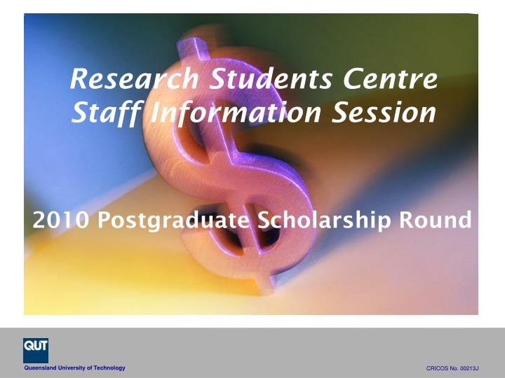 research students centre staff information session n.