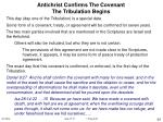 antichrist confirms the covenant the tribulation begins