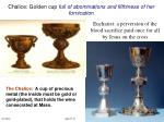 chalice golden cup full of abominations and filthiness of her fornication