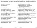 comparisons between jesus the real christ and the antichrist