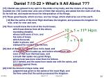daniel 7 15 22 what s it all about