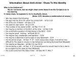 information about anti christ clues to his identity