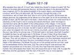 psalm 10 1 18