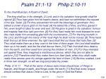 psalm 21 1 13 philip 2 10 11