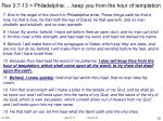 rev 3 7 13 philadelphia keep you from the hour of temptation