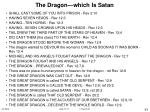 the dragon which is satan