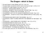 the dragon which is satan44